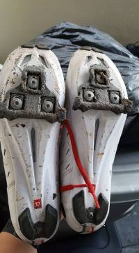 What 50 miles of BWR does to your cleats.