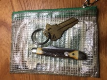 Full carbon pocketknife and keys