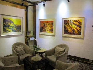 Woodblock prints for sale in hotel